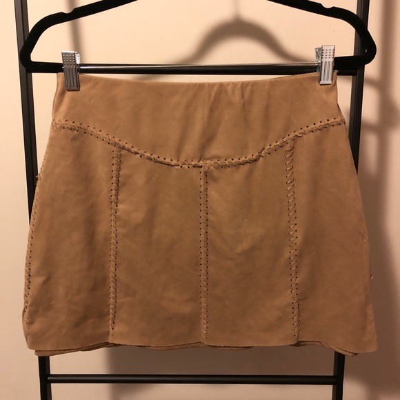 Free People Dresses & Skirts - Free People Liberty Garden Faux Suede Mini Skirt